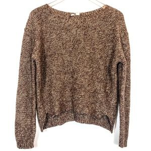 Anthropologie Moth Brown Gold Mohair Wool Sweater